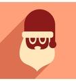 flat icon with long shadow Santa Claus vector image vector image