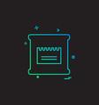 flour bag icon design vector image