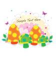 Funky Flower Pot vector image vector image