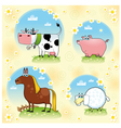 Funny farm animals vector image