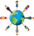Global network of people vector image vector image