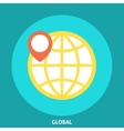 Globe Icon with Pointer vector image vector image
