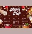 hand drawn hot drinks menu christmas design