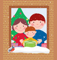 happy family in christmas vector image