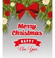 Happy holidays and merry christmas card design vector image vector image