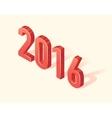 Happy New 2016 Year 3d Isometric element vector image