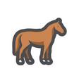 horse farm animal silhouette icon cartoon vector image vector image