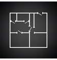 Icon of apartment plan vector image vector image