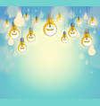 idea concept think different light bulbs group vector image
