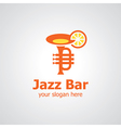 jazz bar logo vector image