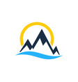 light mountain logo icon design vector image