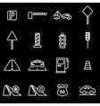 line road icon set vector image vector image