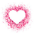 love heart frame scattered hearts confetti vector image vector image
