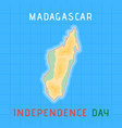 madagascar independence day vector image vector image