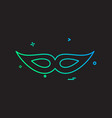 mask icon design vector image vector image