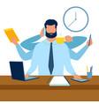 multitasking at work metaphor vector image