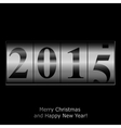New Year counter in silver design vector image vector image