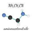 NH2CH2CN aminoacetonitrile molecule vector image vector image