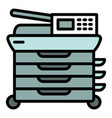 office digital printer icon outline style vector image vector image
