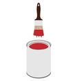 Paint can and paintbrush vector image vector image