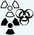 Radioactive and biohazard icon vector image