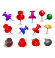 red thumbtack office supplies for paper note push vector image vector image