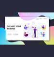 referral program business website landing page vector image vector image