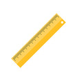 ruler flat isolated icon rule measure length vector image