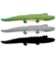 set of crocodile character vector image