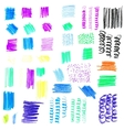 Set of multi-colored textures vector image vector image