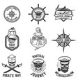 set of nautical emblems design elements for logo vector image vector image