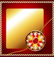 shiny rakhi vector image vector image