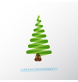 simple christmas tree made from one line vector image vector image