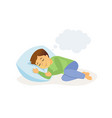 sleeping boy - cartoon people character isolated vector image