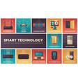 smart technology - set of flat design infographics vector image vector image