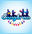 songkran festival vector image vector image