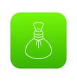 spa hot compress icon green vector image