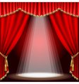 Stage with red curtain clipping mask mesh vector | Price: 1 Credit (USD $1)
