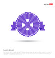 swimming lifebuoy icon - purple ribbon banner vector image