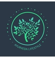 T tree logo Ayurvedic symbol vector image vector image