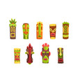 traditional religious totems set colorful ethnic vector image vector image