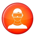 Virtual 3d reality goggles icon flat style vector image