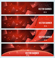 Web banner flyer and cover with red triangle vector image