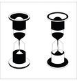 black hourglass icon on white background vector image