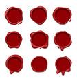 3d wax stamp set vector image vector image