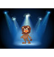 A stage with an old lion at the center vector image vector image