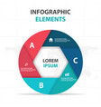 abstract hexagon circle business infographics vector image vector image