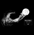 abstract silhouette of a volleyball player ball vector image vector image