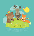 animals eating ice cream vector image vector image