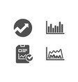 audit report checklist and bar diagram icons vector image